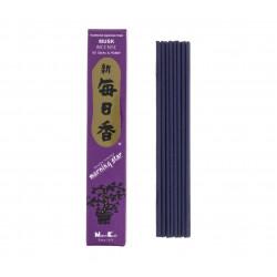 Confezione da 50 bastoncini di incenso giapponese, MORNING STAR MUSK, profumo di muschio