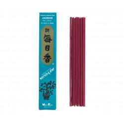 Box of 50 Japanese incense sticks, MORNING STAR JASMINE, jasmine fragrance