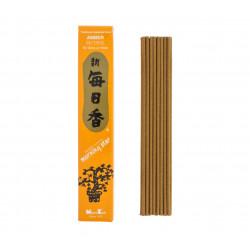 Box of 50 Japanese incense sticks, MORNING STAR AMBER, amber scent