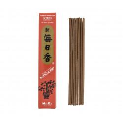 Box of 50 Japanese incense sticks, MORNING STAR MYRRH, Myrrh fragrance