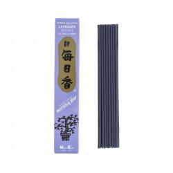 Box of 50 Japanese incense sticks, MORNING STAR LAVENDER, lavender scent