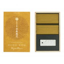 Wooden box of Paulownia 60 sticks, OEDO KOH CHRYSANTHEMUM, Chrysanthemum