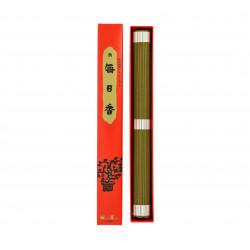 Box of 100 long Japanese incense sticks, MORNING STAR SANDALWOOD LONG, sandalwood scent