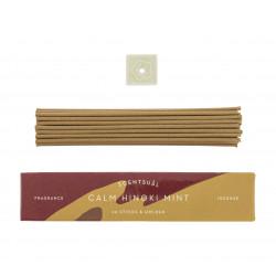 Box of 30 incense sticks with incense holder, SCENTSUAL CALM HINOKI MINT, Hinoki