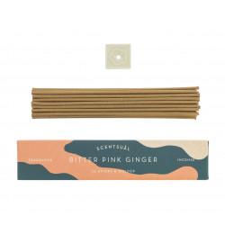 Box of 30 incense sticks with incense holder, SCENTSUAL BITTER PINK GINGER, Ginger