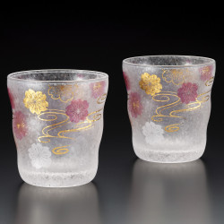 Set of 2 Japanese whiskey glasses, PREMIUM SAKURASUIMON