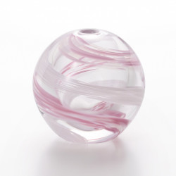 japanese glass vase, SAKURA NAGA, pink