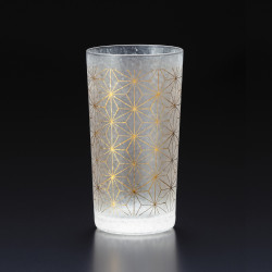 Japanese glass with asanoha pattern - WAKOMON