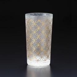 Japanisches Glas mit shippou-Motiv - WAKOMON