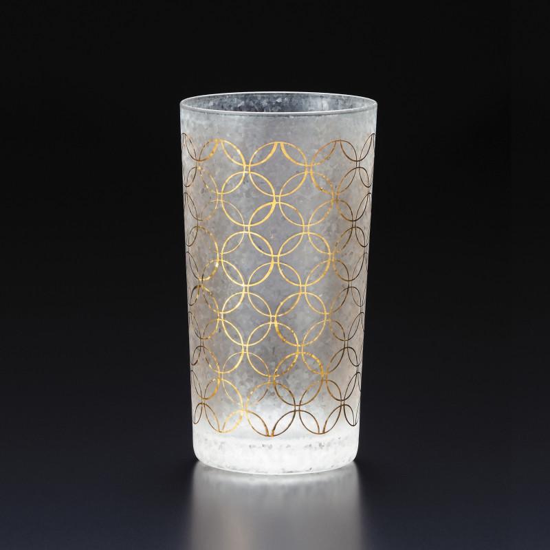 Japanese glass with shippou pattern - WAKOMON