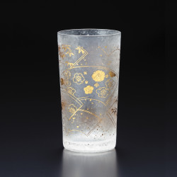 Japanese glass with suehiro pattern - WAKOMON