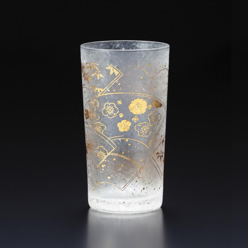 Japanese glass with suehiro pattern - WAKOMON
