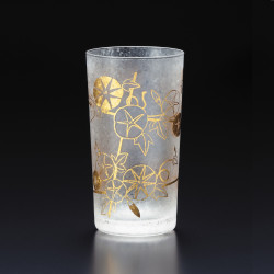 Japanese glass with asagao pattern - WAKOMON