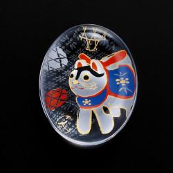 repose-baguettes japonais en verre motif chien - SUTIKKURESUTO