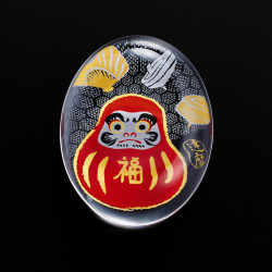 repose-baguettes japonais en verre motif daruma - SUTIKKURESUTO