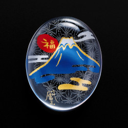 Japanese glass chopsticks with Mt.Fuji motif - SUTIKKURESUTO