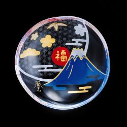 petite assiette mamesara japonaise en verre motif Mt.Fuji - MAMESARA