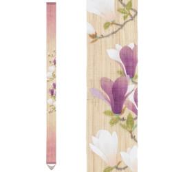 Fine tapisserie japonaise en chanvre peinte à la main, MOKUREN, Magniolia