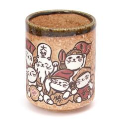 Japanese teacup ceramic cats 17MYA5522047E