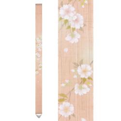 Fine tapisserie japonaise en chanvre peinte à la main, YAEZAKURA, Fleur de Cerisier Doubles