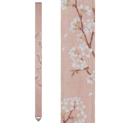 Fine Japanese tapestry in hemp, hand painted, SAKURA, Cherry tree