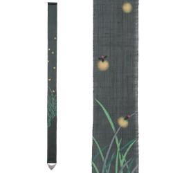 Fine tapisserie japonaise en chanvre peinte à la main, HOTARU, Luciole