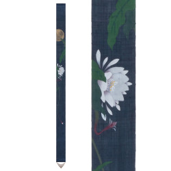 Fine Japanese tapestry in hemp, hand painted, GEKKA BIJIN, Beauty of the moon