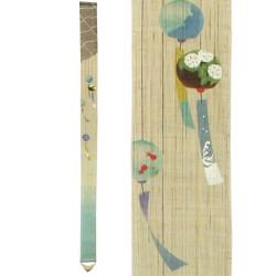 Fine tapisserie japonaise en chanvre peinte à la main, FURIN, Carillon