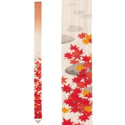 Fine tapisserie japonaise en chanvre peinte à la main, MOMIJIGARI, Feuilles d'automne