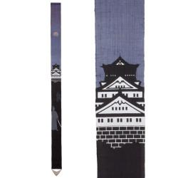 Fine tapisserie japonaise en chanvre peinte à la main, SAMURAI