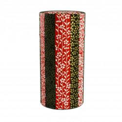 Caja de té japonesa de papel washi, SAKURA, líneas