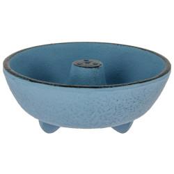 Blue cast-iron incense burner, IWACHU, fountain