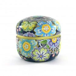 boîte à thé bleue japonaise 18SM1B