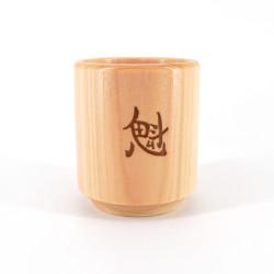 Petit verre à saké cylindrique en bois - MOKUZAI