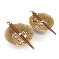 Set de 2 bols japonais en céramique - KURO AKURA