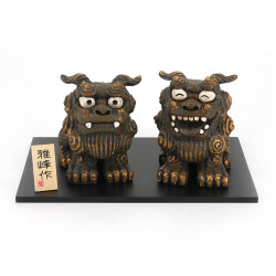 2 guardiani giapponesi Lions of ornament, KOMAINU, decorazione,