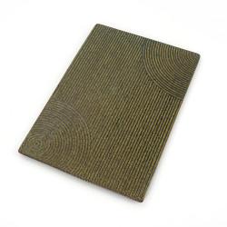 Large Japanese rectangular ceramic plate - MIDORI - green