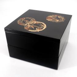 Large japanese lunch box jyubako, TAKE HANA