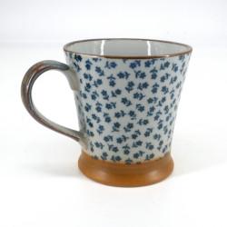 mug japonais bleu en céramique Hana