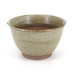 Japanese brown ceramic bowl suribachi - SURIBACHI