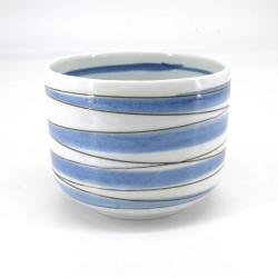 Japanese ceramic rice bowl, ŌSEN, white