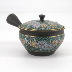 Tokura-kutani teapot SAKURA, blue
