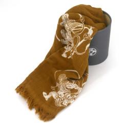 Cotton scarf, COTTON SCARF FUJIN RAIJIN, Yellow