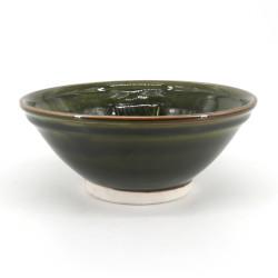 Japanese ceramic suribachi bowl - SURIBACHI - green