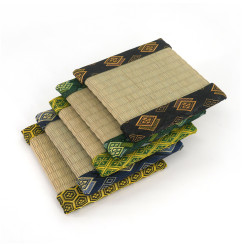 petit tatami carré en goza 13 x 13 cm