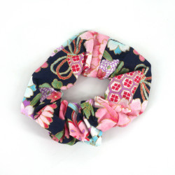 Cotton hair scrunchie, HANA KAMI, floral patterns