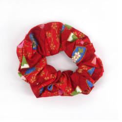 Cotton hair scrunchie, HANA KAMI, floral patterns