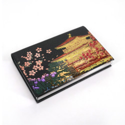Decorated Japanese rectangular card holder, KINKAKUJI