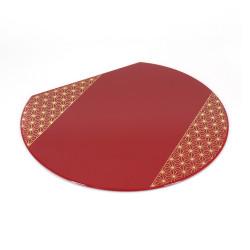 Set de table japonais en résine rouge, ASANOHA