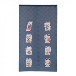 Japanese noren polyester curtain, SHICHI FUKUNEKO